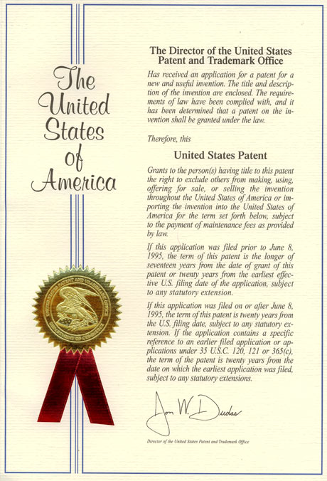 Patents and certificates 2